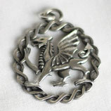 Hanger pewter Welsh dragon