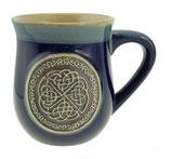 Beker keltische knoop blauw