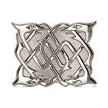 Kilt belt buckle serpent chrome