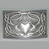 Kilt belt buckle Claddagh