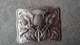 Kilt belt buckle thistle antique