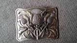 Kilt belt buckle thistle antique