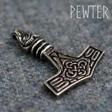 Hanger pewter Bird Headed Thor's Hammer