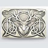 Kilt belt buckle Highland stag mat
