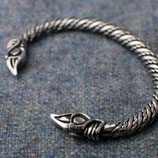 Armband klein pewter Huginn and Muninn
