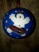 Sneeuwpop kerstbal