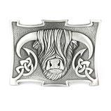Kilt belt buckle Coo polished