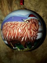 Highland cow kerstbal