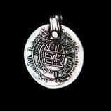 Hanger pewter Dirham Coin