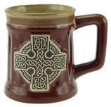 Beker keltisch kruis rood