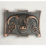 Kilt belt buckle Coo chocolate bronze