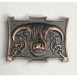 Kilt belt buckle Coo chocolate bronze