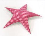 Sternen-Kissen pink/hellgrau