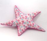 Sternen-Kissen klein rosa/pink