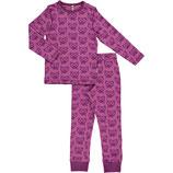 Maxomorra Pyjama Set LS Cat Purple
