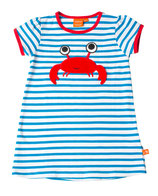 Lipfish Dress SS blue/white Crab
