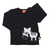 Lipfish Shirt Zebra black langarm gr. 86/92