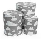 Färg & Form Pappbehälter Moln/Wolke grau