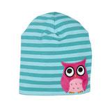 Lipfish Hat Owl aqua striped 0-1 Jahre