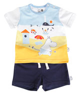 Martinex Beach Shorts + T-shirt Set Blue
