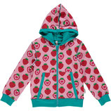 Maxomorra Cardigan Hood Strawberry