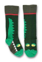 Ubang Kniestrümpfe Crocodile Talkie-Walkie jade-green Gr. 18-20