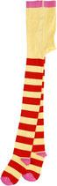 DUNS Strumpfhosen gelb/rot, pink toe