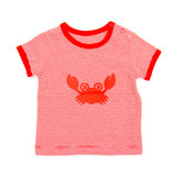 Lily Balou T-shirt Billy Stripes Fiery Red
