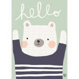 Psikhouvanjou: Poster Polarbear Hello