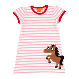 Lipfish Dress SS White/Pink Horse