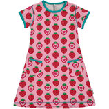 Maxomorra Dress SS Strawberry