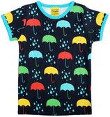 DUNS Damenshirt Kurzarm Umbrellas dunkelblau