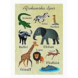 "OMM-Design Poster ""Afrikanska djur"" Ingela P Arrhenius"