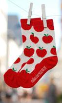 Fräulein Prusselise Socken Apfelbäckchen weiß