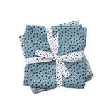 Done by deer: Spucktücher 2-pack Happy dots blau