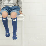 Mini Dressing Kniestrümpfe Bär blau Gr. S (1-2 Jahre)