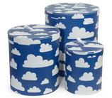 Färg & Form Pappbehälter Moln/Wolke Blau