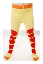DUNS Strumpfhosen dot red/yellow Gr. 122/128