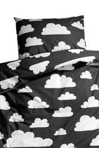 Färg & Form Kinder-Bettwäsche Moln/wolke schwarz