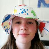 Duns Sonnenhut Baby mit Krempe Regenschirm weiß