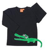 Lipfish Shirt Crocodile black