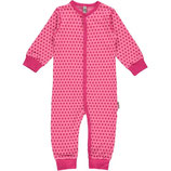 Maxomorra Rompersuit Button LS dots cerise