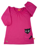 Lipfish Dress Pocket Kitten cerise langarm Gr. 74/80