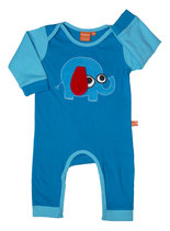Lipfish Baby-Pyjama Elephant blue