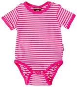Sale! 50 % Maxomorra Kurzarmbody cerise/light pink stripes