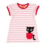 Lipfish Dress SS White/Pink Kitten
