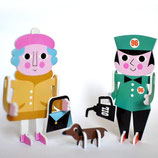 "OMM-Design 3 D-Steckpuzzle ""Character Parade"""