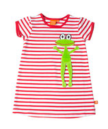Lipfish Dress SS red/white frog