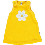 Maxomorra Pinafore Dress Flower gelb Gr. 80