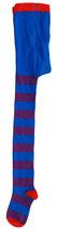 DUNS Strumpfhosen purple/blue, red toe Gr. 110/116